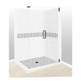 corner shower kits with walls. American Bath Factory Laguna Sistine Stone Wall Composite Floor  Rectangle 10 Piece Corner Shower Shop Kits at Lowes com