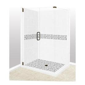 american bath factory laguna sistine stone wall stone composite floor rectangle 10piece corner shower