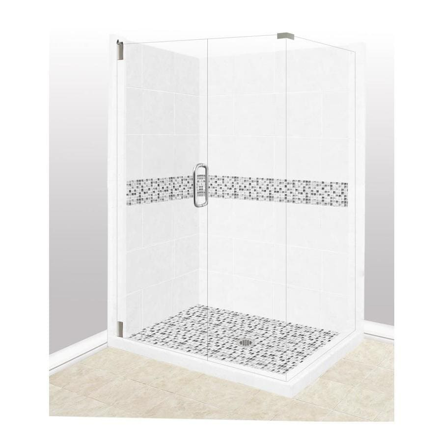 corner shower kits with walls. American Bath Factory Laguna Sistine Stone Wall Composite Floor  Rectangle 10 Piece Corner Shower Shop Kits at Lowes com