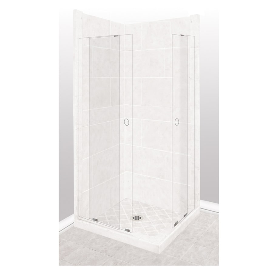American Bath Factory Monterey Light Sistine Stone Wall Stone Composite Floor Rectangle 11-Piece Corner Shower Kit (Actual: 80-in x 36-in x 48-in)