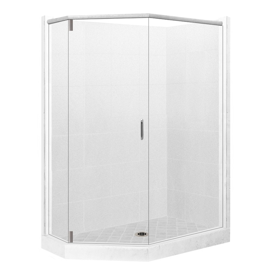 36 x 36 corner shower kit. american bath factory monterey light sistine stone wall composite floor neo-angle 10- 36 x corner shower kit f
