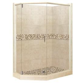 lowes corner shower kit. American Bath Factory Mesa Sistine Stone Wall Composite Floor  Neo Angle 10 Piece Shop Corner Shower Kits at Lowes com