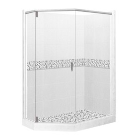 corner shower. American Bath Factory Laguna Sistine Stone Wall Composite Floor  Neo Angle 10 Piece Shop Corner Shower Kits at Lowes com
