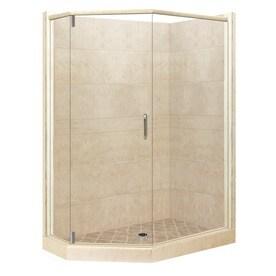 Superb American Bath Factory Sonoma Sistine Stone Wall Stone Composite Floor  Neo Angle 10 Piece
