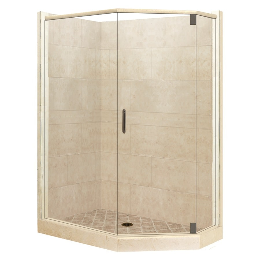 36 inch corner shower kit. American Bath Factory Sonoma Sistine Stone Wall Composite Floor  Neo Angle 10 Piece Shop