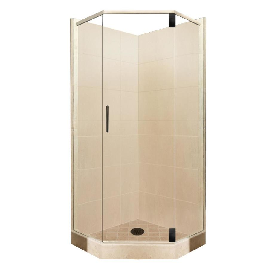 36 x 36 corner shower kit. american bath factory sonoma sistine stone wall composite floor neo-angle 10-piece 36 x corner shower kit a