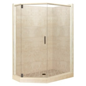 corner shower kits with walls. American Bath Factory Sonoma Medium Sistine Stone Wall Composite  Floor Neo Angle 10 Shop Corner Shower Kits at Lowes com