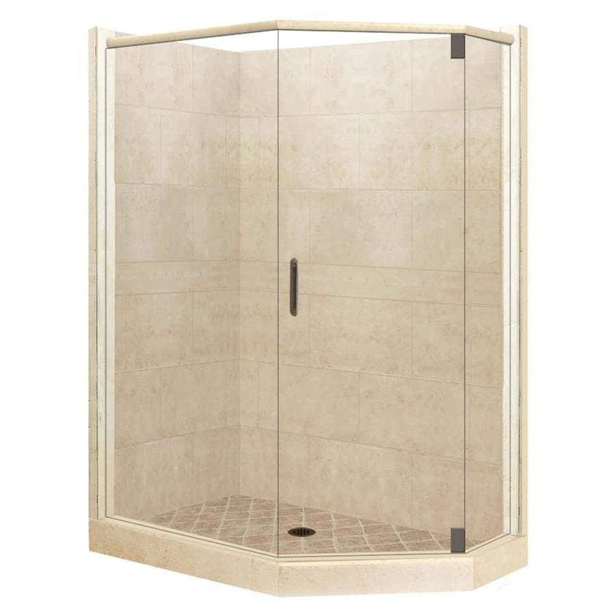 American Bath Factory Sonoma Sistine Stone Wall Stone Composite Floor  Neo Angle 10 PieceShop American Bath Factory Sonoma Sistine Stone Wall Stone  . Lowes Corner Shower Kit. Home Design Ideas