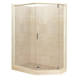 corner shower kits 36 x 36. American Bath Factory Sonoma Medium Sistine Stone Wall Composite  Floor Neo Angle 10 Shop Corner Shower Kits at Lowes com
