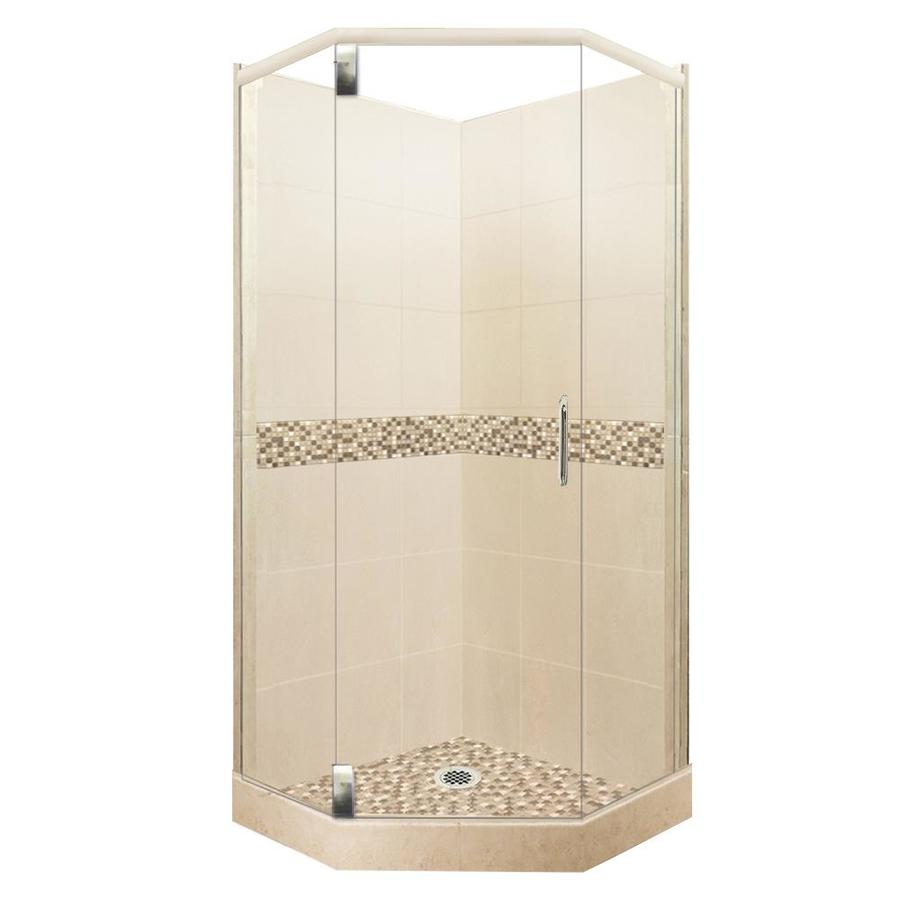 American Bath Factory Mesa Sistine Stone Wall Stone Composite Floor Neo-Angle 10-Piece Corner Shower Kit (Actual: 80-in x 36-in x 36-in)