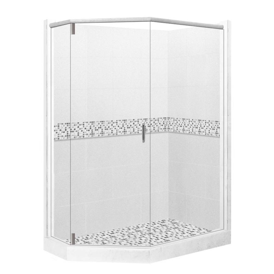 corner shower kits with walls. American Bath Factory Laguna Sistine Stone Wall Composite Floor  Neo Angle 10 Piece Shop