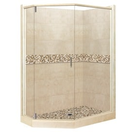 corner shower. American Bath Factory Mesa Medium with Mosaic Tiles Sistine Stone Wall  Composite Floor Neo Shop Corner Shower Kits at Lowes com