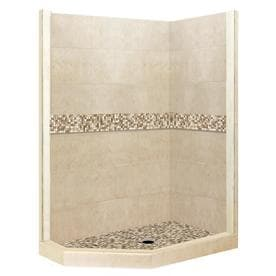 1ea718a051c American Bath Factory Mesa Medium with Mosaic Tiles Sistine Stone Wall Floor  Neo-Angle 20