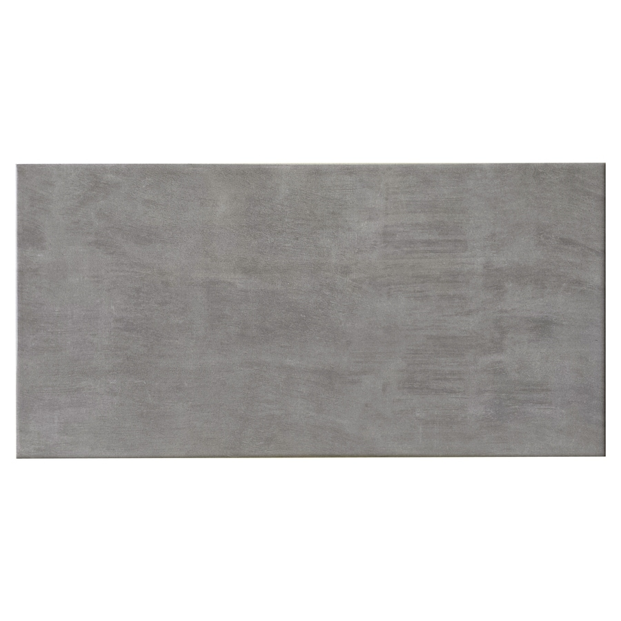 Style Selections Kettlecove Gray Ceramic Wall Tile Common 8 In X 16