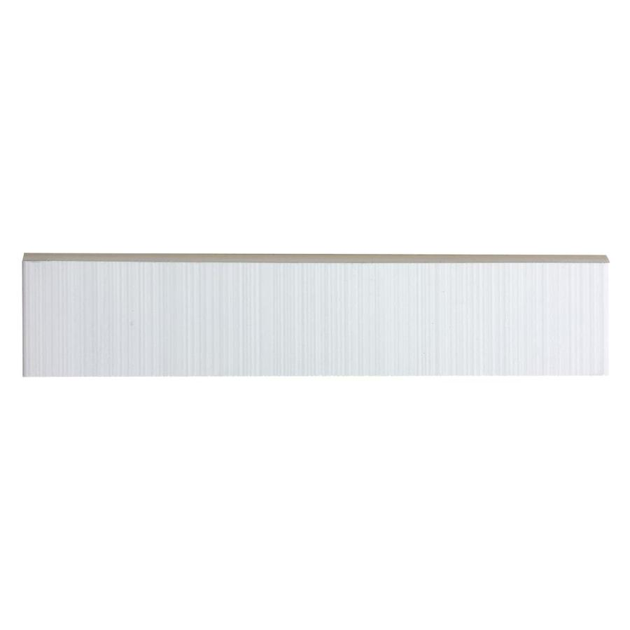 Style Selections Blairlock White Ceramic Bullnose Tile (Common: 2-in x 10-in; Actual: 9.76-in x 1.96-in)