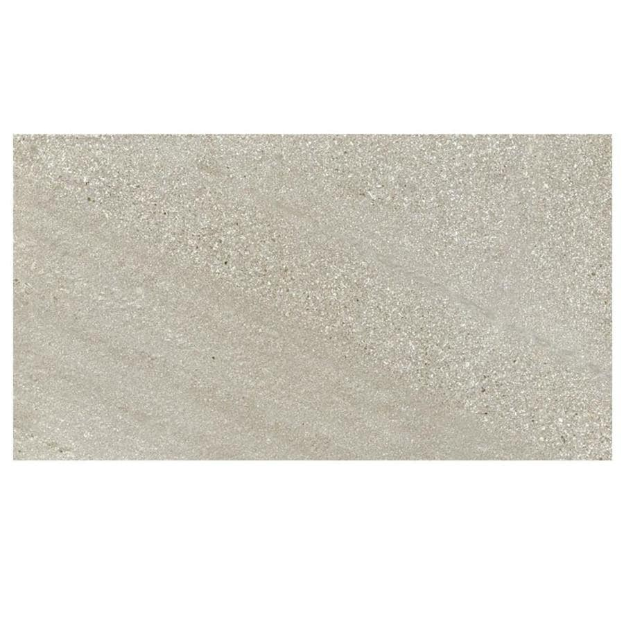 Shop MULIA TILE Balance Gray Porcelain Floor and Wall Tile (Common ...