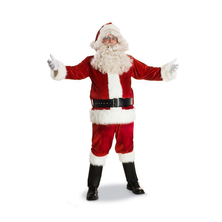 Shop large red polyester santa claus suit at lowes