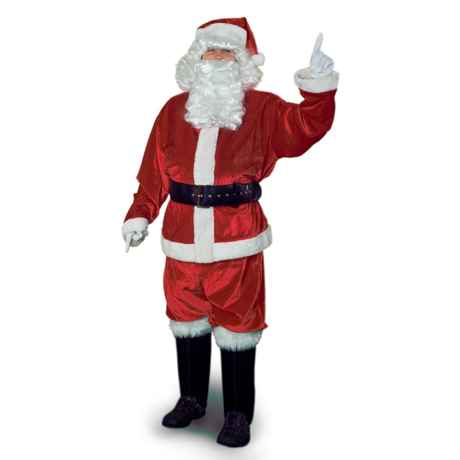 3XL Red Velvet Santa Claus Suit