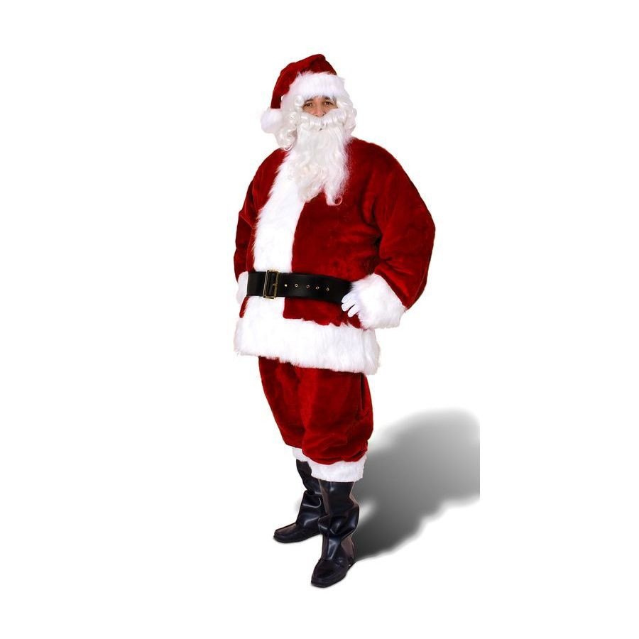 XXL Maroon Polyester Santa Claus Suit