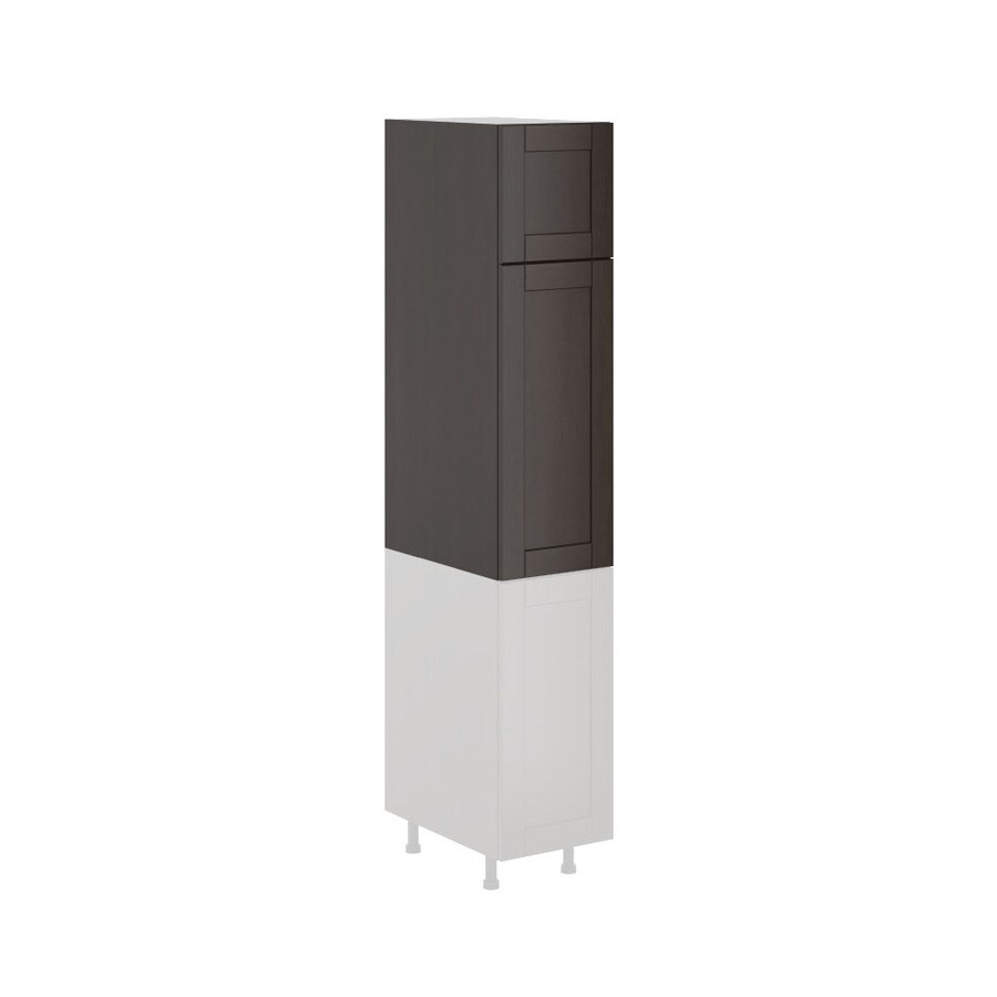 K Collection Kentia 15.125-in W x 49.125-in H x 23.625-in D Stained Kentia Birch Shaker Door Pantry Cabinet