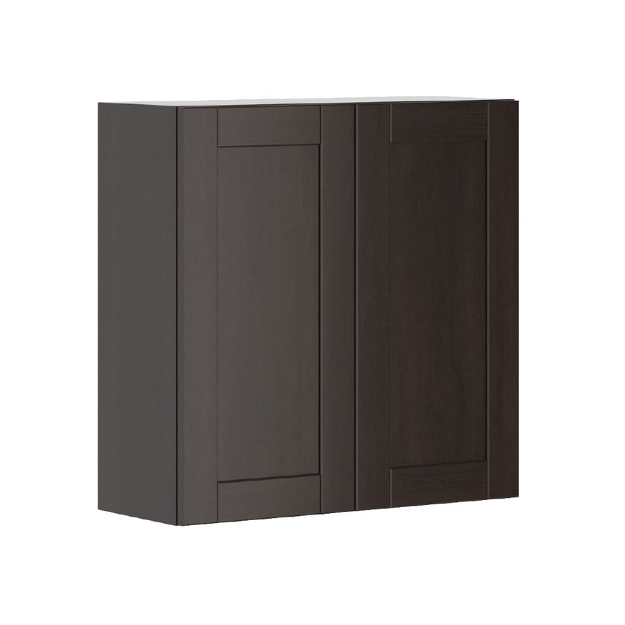K Collection 30.25-in W x 30.25-in H x 11.625-in D Kentia Birch Shaker Door Wall Cabinet