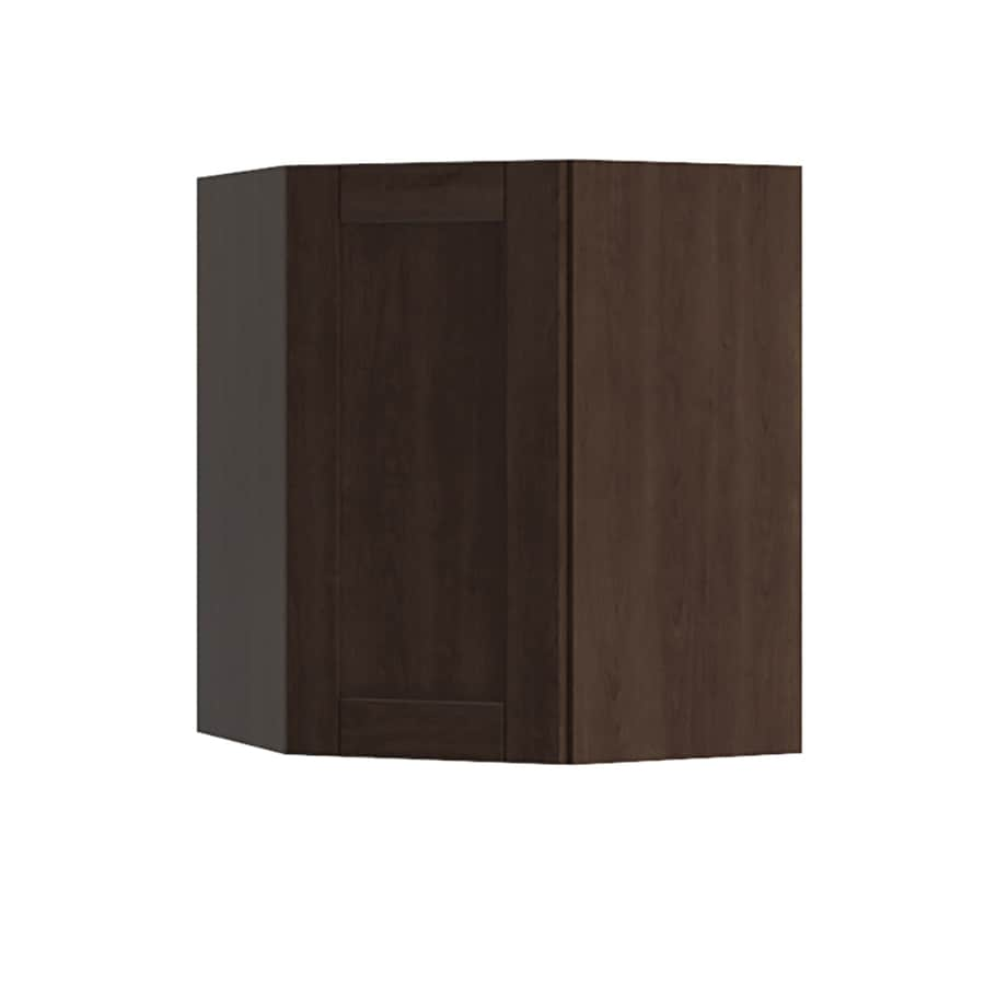 K Collection 24.25-in W x 30.25-in H x 24.25-in D Kentia Birch Shaker Corner Wall Cabinet