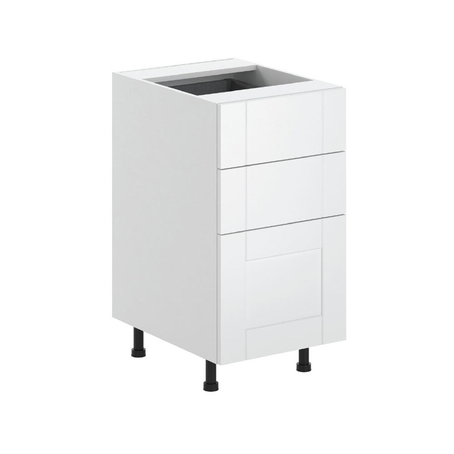 K Collection 17.9375-in W x 34.5-in H x 23.625-in D Kambria Shaker Door and Drawer Base Cabinet