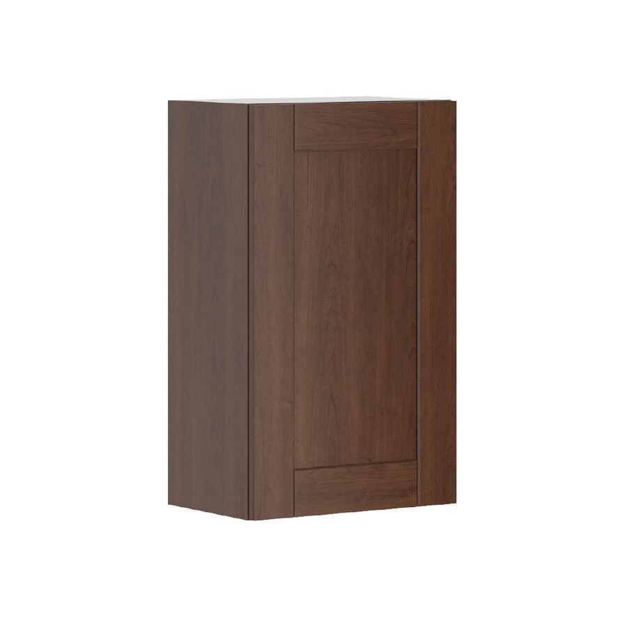 K Collection 17.9375-in W x 30.25-in H x 11.625-in D Kaleo Birch Shaker Door Wall Cabinet