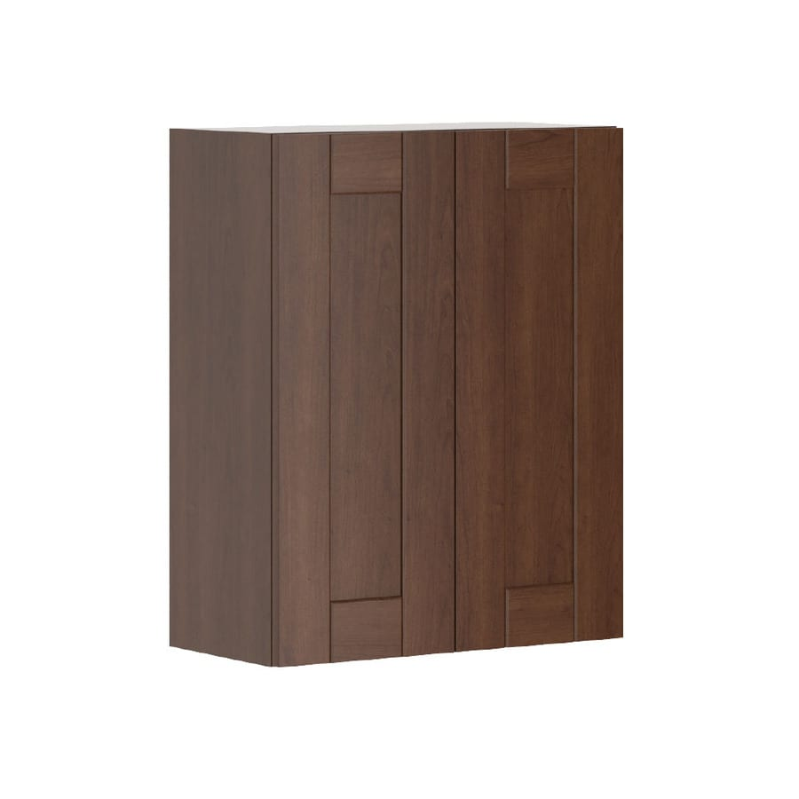 K Collection 23.9375-in W x 30.25-in H x 11.625-in D Kaleo Birch Shaker Door Wall Cabinet