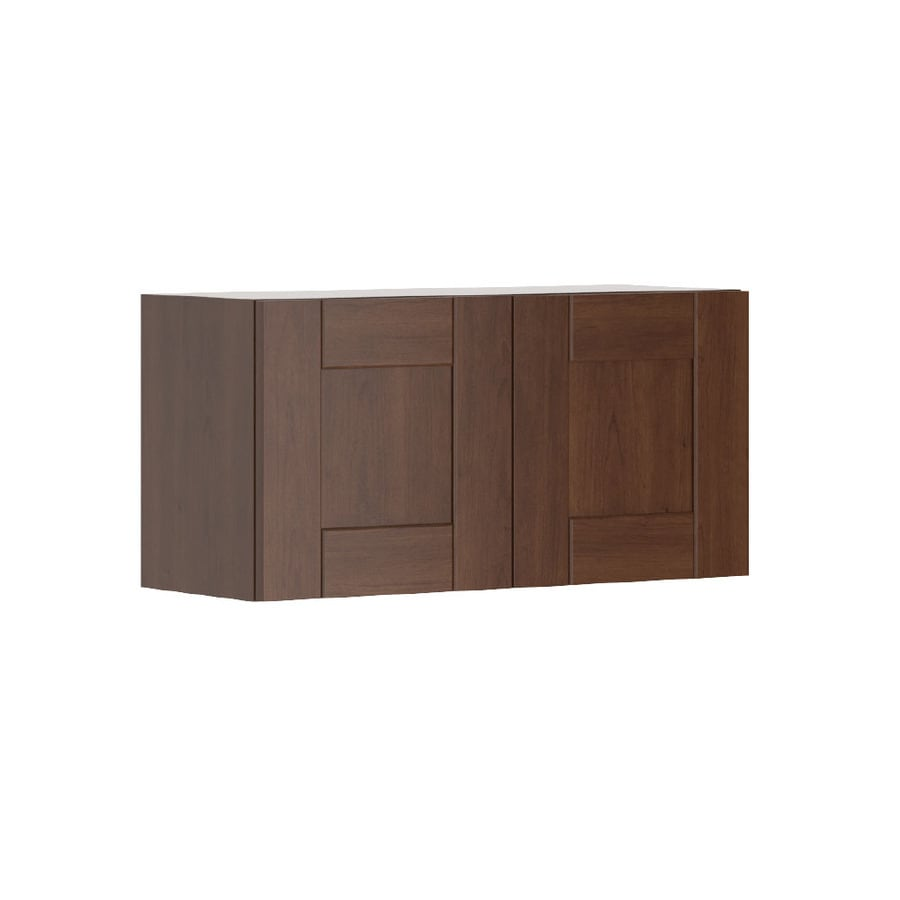K Collection 30.25-in W x 15.125-in H x 11.625-in D Kaleo Birch Shaker Door Wall Cabinet