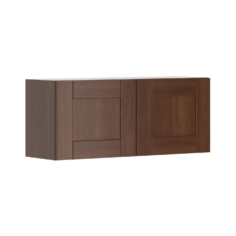 K Collection 35.875-in W x 15.125-in H x 11.625-in D Kaleo Birch Shaker Door Wall Cabinet