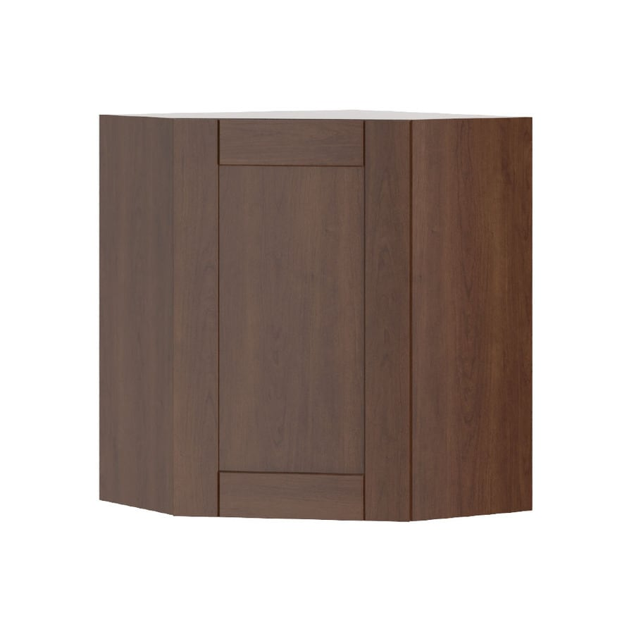 K Collection 24.25-in W x 30.25-in H x 24.25-in D Kaleo Birch Shaker Corner Wall Cabinet