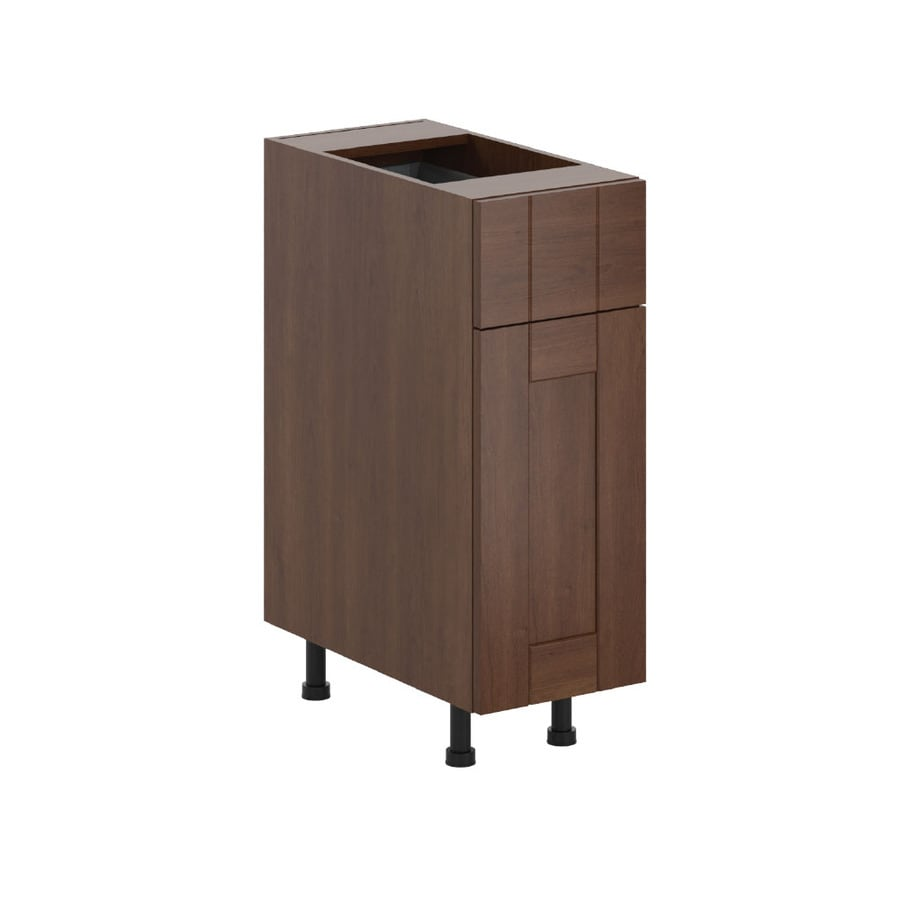 K Collection 12-in W x 34.5-in H x 23.625-in D Kaleo Birch Shaker Door and Drawer Base Cabinet