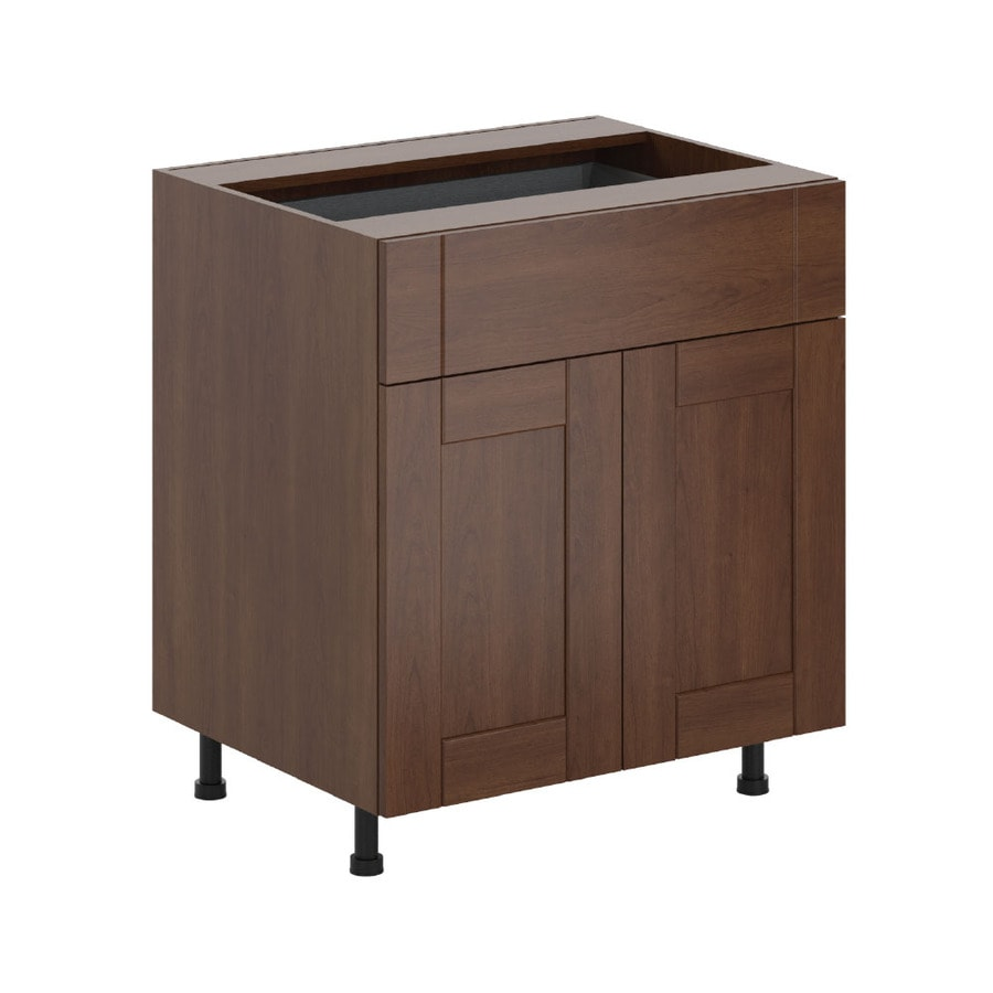 K Collection 30.25-in W x 34.5-in H x 23.625-in D Kaleo Birch Shaker Door and Drawer Base Cabinet