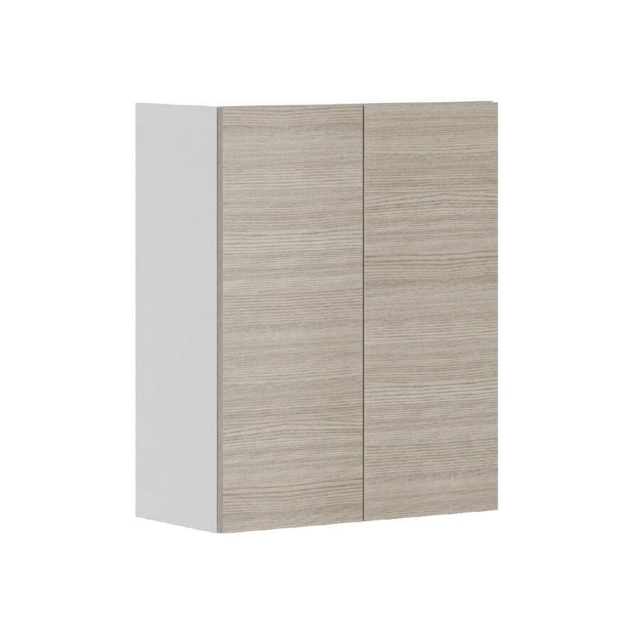K Collection 23.9375-in W x 30.25-in H x 11.625-in D Kaden Slab Door Wall Cabinet