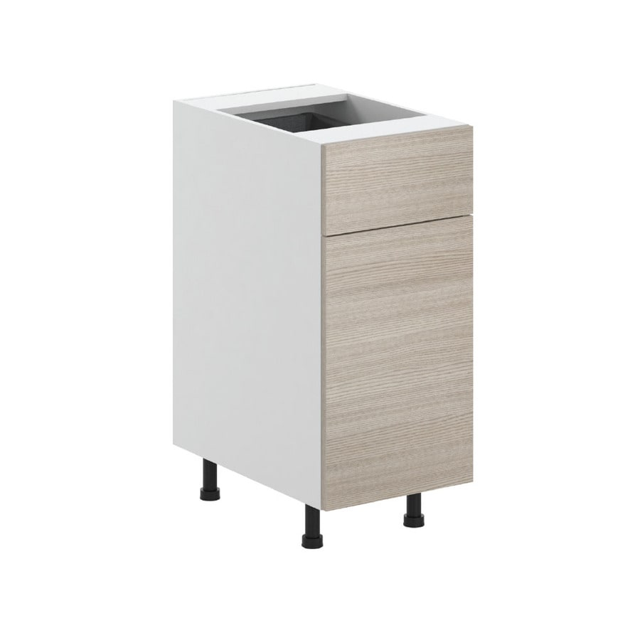 K Collection 15.125-in W x 34.5-in H x 23.625-in D Kaden Slab Door and Drawer Base Cabinet