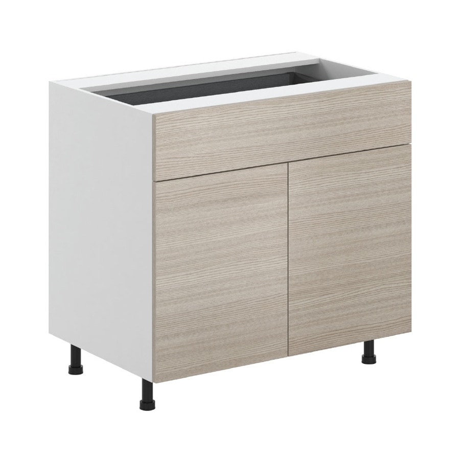 K Collection 35.875-in W x 34.5-in H x 23.625-in D Kaden Slab Door and Drawer Base Cabinet