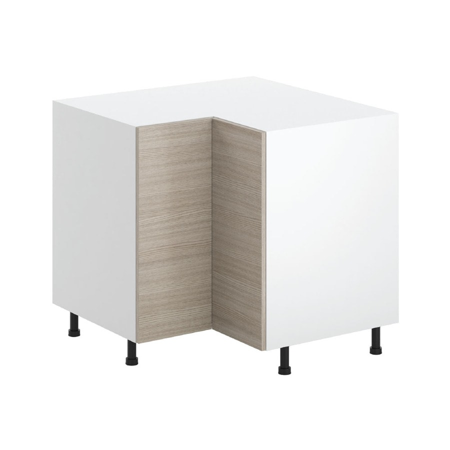 K Collection 36.25-in W x 34.5-in H x 36.25-in D Kaden Slab Lazy Susan Corner Base Cabinet