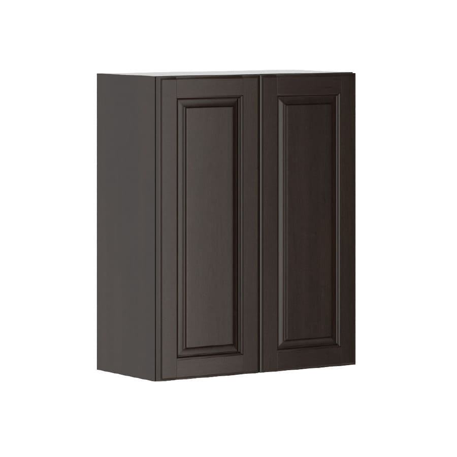 K Collection Kira 23.9375-in W x 30.25-in H x 11.625-in D Stained Kira Birch Door Wall Cabinet