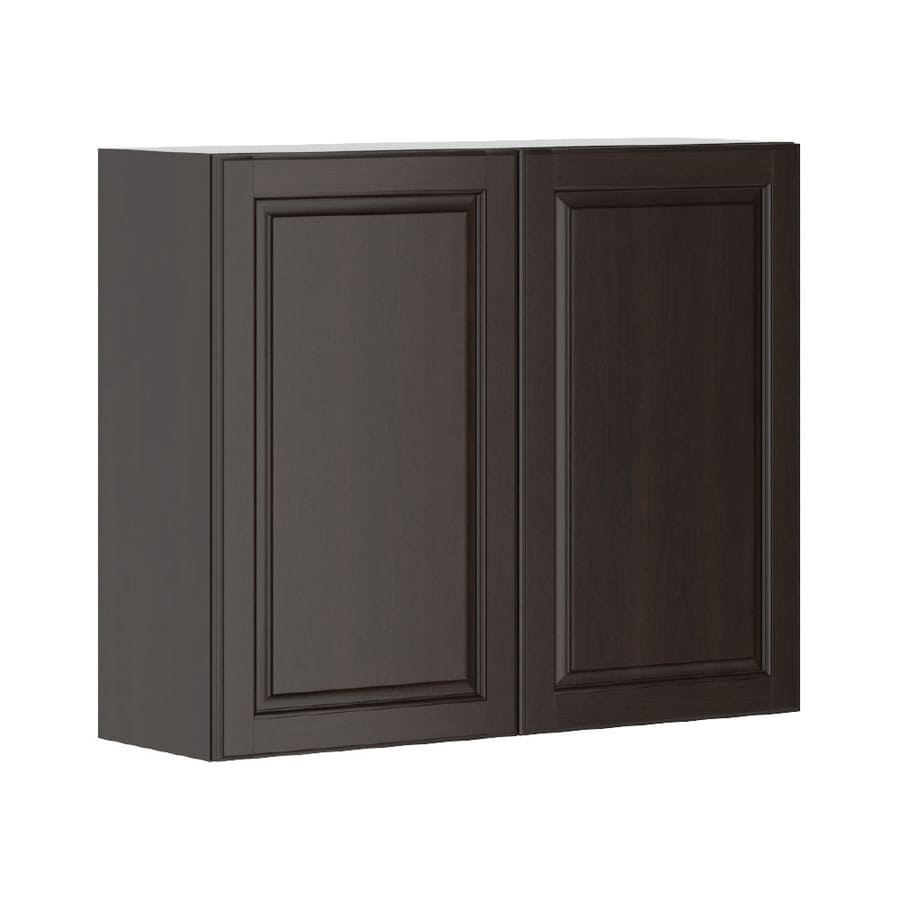 K Collection Kira 35.875-in W x 30.25-in H x 11.625-in D Stained Kira Birch Door Wall Cabinet