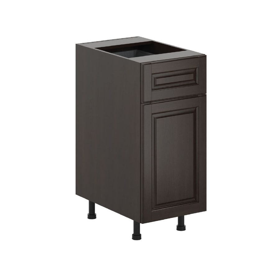 K Collection 15.125-in W x 34.5-in H x 23.625-in D Stained Kira Birch Door and Drawer Base Cabinet