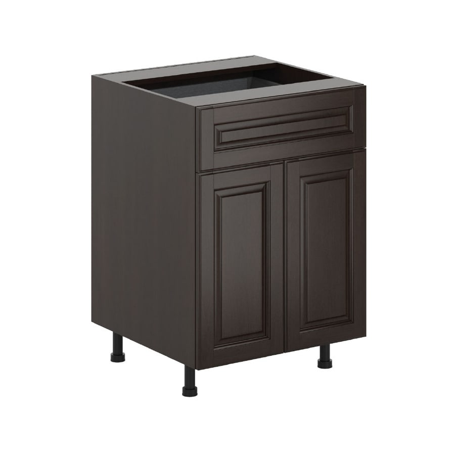 K Collection Kira 23.9375-in W x 34.5-in H x 23.625-in D Stained Kira Birch Door and Drawer Base Cabinet