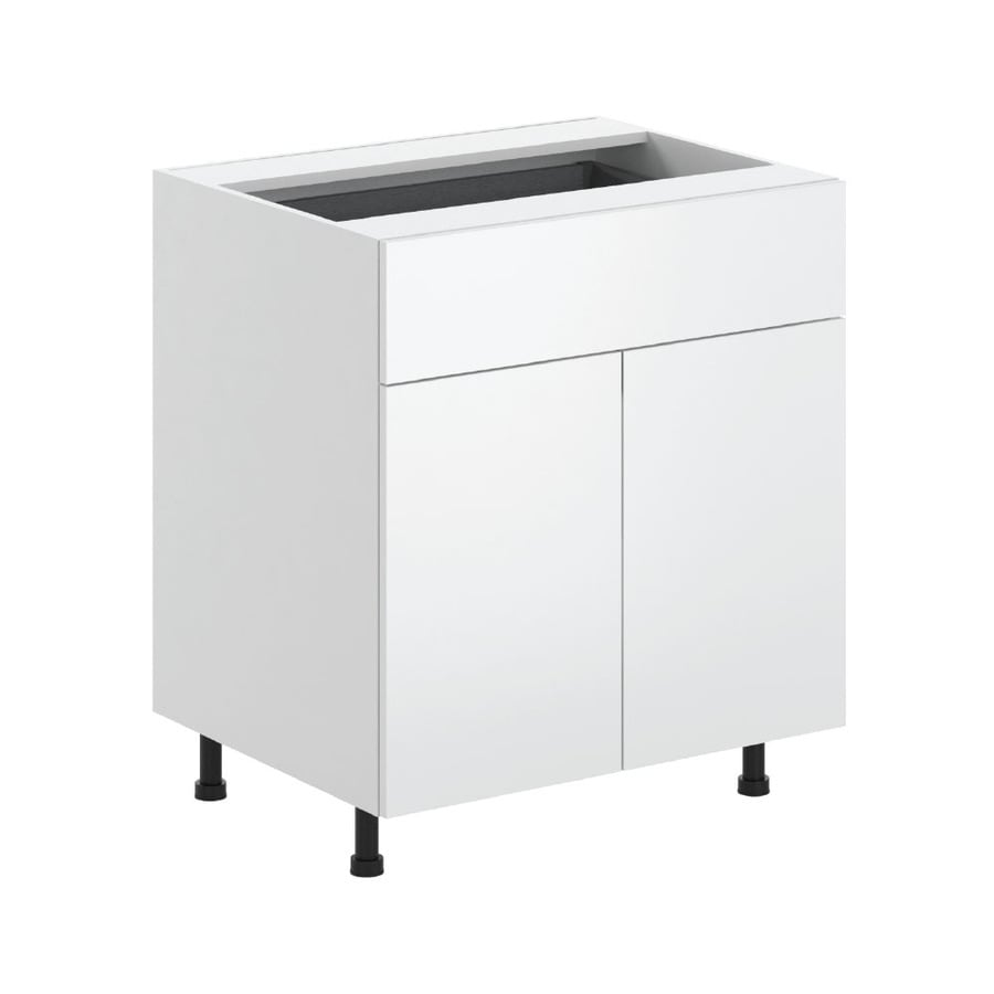 K Collection 30.25-in W x 34.5-in H x 23.625-in D Kava Slab Door and Drawer Base Cabinet