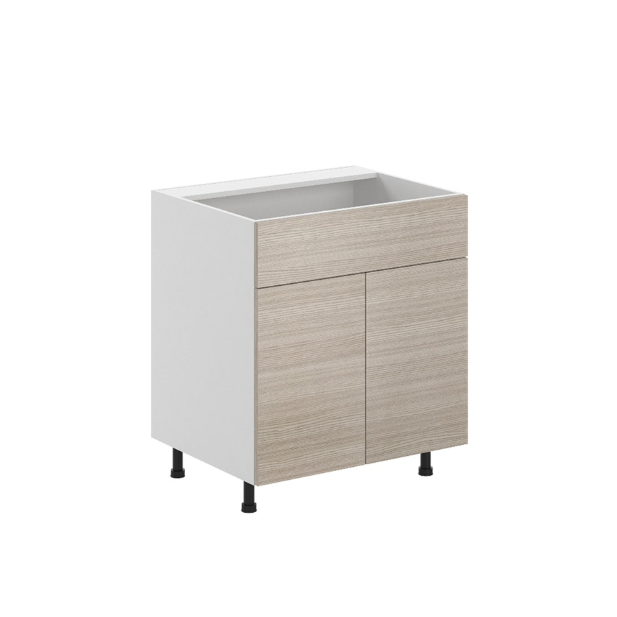 K Collection Kaden 30.25-in W x 34.5-in H x 23.625-in D Kaden Slab Sink Base Cabinet