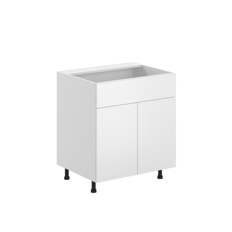 K Collection 30.25-in W x 34.5-in H x 23.625-in D Kava Slab Sink Base Cabinet
