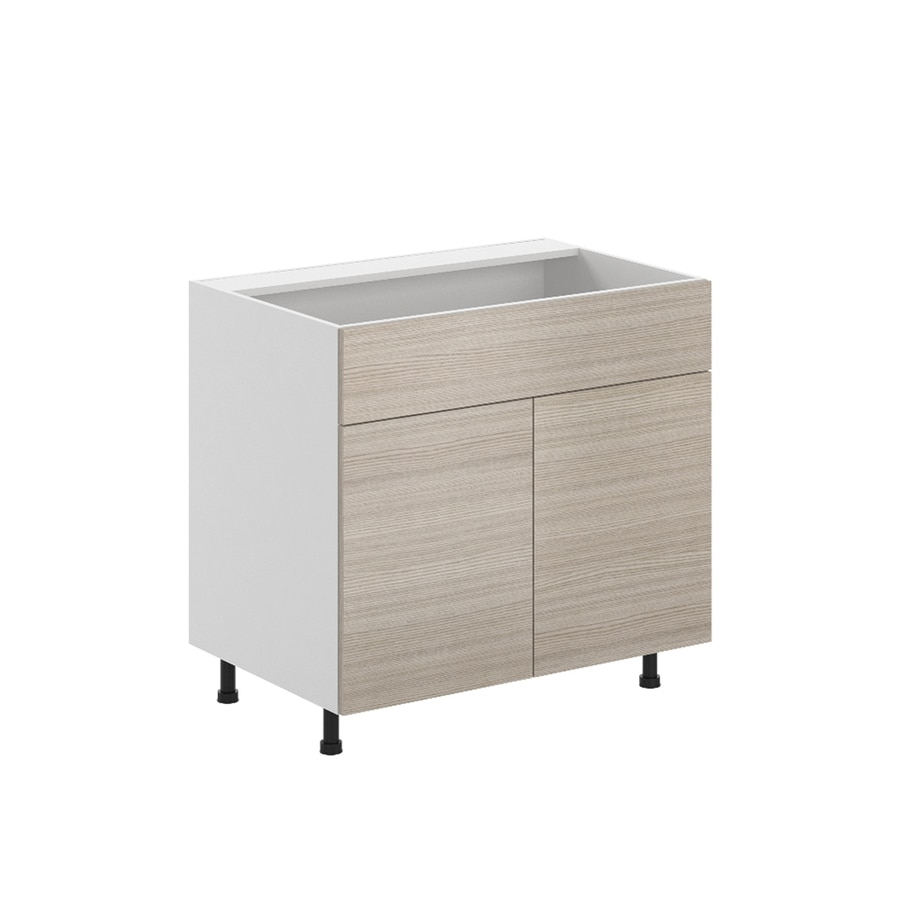 K Collection Kaden 35.875-in W x 34.5-in H x 23.625-in D Kaden Slab Sink Base Cabinet