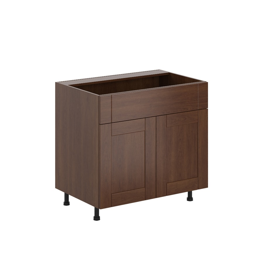 K Collection Kaleo 35.875-in W x 34.5-in H x 23.625-in D Stained Kaleo Birch Shaker Sink Base Cabinet