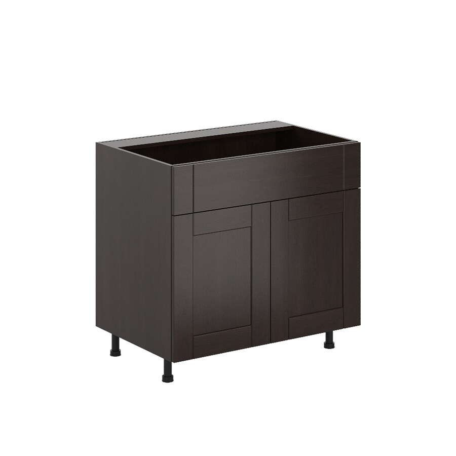 K Collection 35.875-in W x 34.5-in H x 23.625-in D Kentia Birch Shaker Sink Base Cabinet