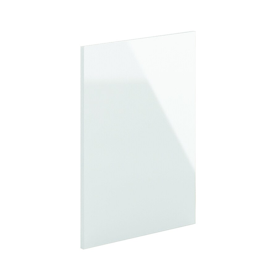 K Collection 24-in x 30.25-in Acrylic White Cabinet End Panel