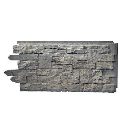 Novik Stacked Stone Sk 50 Sq Ft Smoke Gray Faux Stone